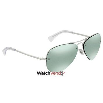 Gotopfashion Ray Ban Dark Green/Silver Mirror Aviator Sunglasses RB3449 904330 59