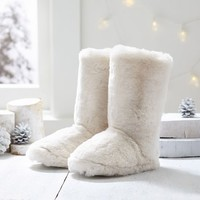 Faux Fur Booties, Polar Bear