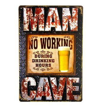 Beer Vintage Tin Metal Signs Home Decor Cafe Bar Wall Sticker House Living Room Poster Iron Painting