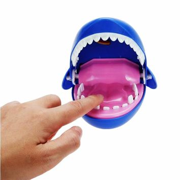 Creative Electric Luminous Large Crocodile Mouth Dentist Bite Finger Game Funny Toy Novetly Gags Joking Toys For Kids Gift
