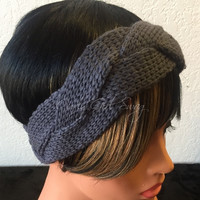 Braided Knit Headband -More Colors Available