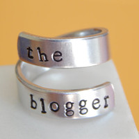 The Blogger - Aluminum Wrap Ring - Adjustable