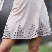 Mountains and Designs Taupe Skirt CLEARANCE