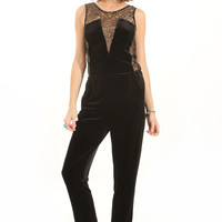 Sugarlips Charming Velvet Jumpsuit