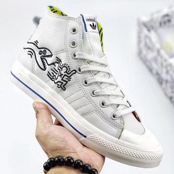 Trendsetter Adidas Keith Haring x Originals Women Men Fashion Casual Mid-Top Shoes