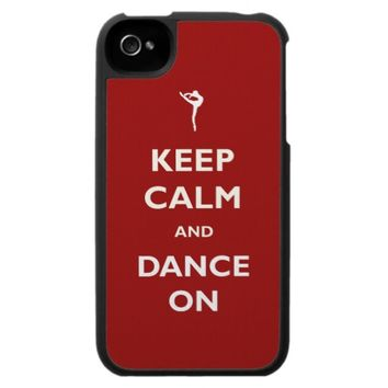 Keep Calm Dance On Red iPhone Case