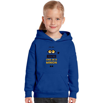 You're One In A Minion Kids Hoodie