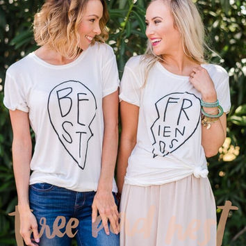 Best Friends Heart BFF Shirts