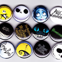 12 TIM BURTON badges  corpse bride nightmare by YouCantGoBack