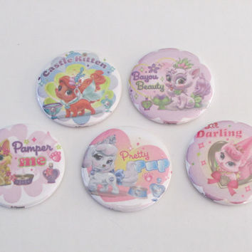 Princess Pets Magnet Set of 5 - Birthday Party Favors - Pinata Prizes - Princess Pets Birthday - Princess Pets Party Favor