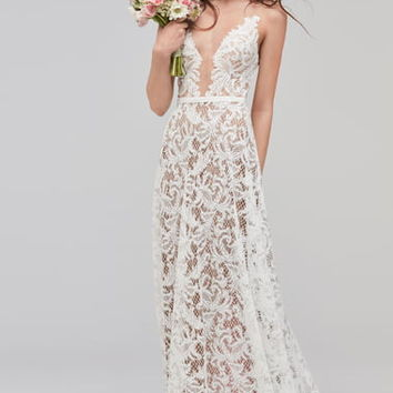 Willowby Asa Sleeveless V-Neck Lace & Tulle Wedding Dress | Nordstrom