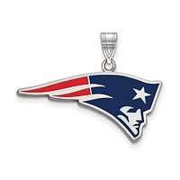 925 Sterling Silver New England Patriots NFL Football Necklace Charm