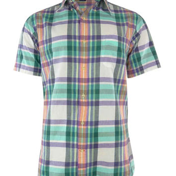Cremieux Classics Men's Slim Fit Patterned Madras Shirt