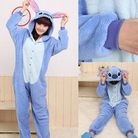 Janecrafts New Kigurumi Pajamas Anime Cosplay Costume Unisex Adult Onesuit Dress (M, Bear)