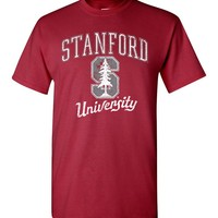 Official NCAA Stanford University Cardinal SU The Stanford Tree ALL RIGHT NOW! Short-Sleeve T-Shirt - SC19st-a
