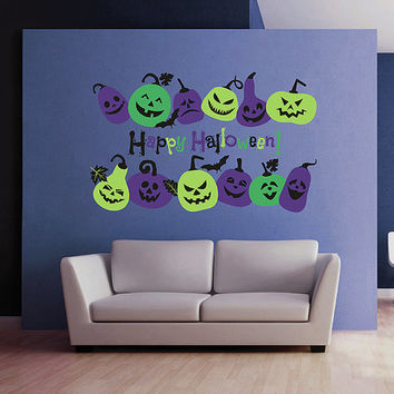 kcik1649 Full Color Wall decal greeting halloween coffee shop showcase