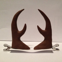 Reindeer Antlers / Horns Hair Clips - Festive Season Holiday Christmas Accessories