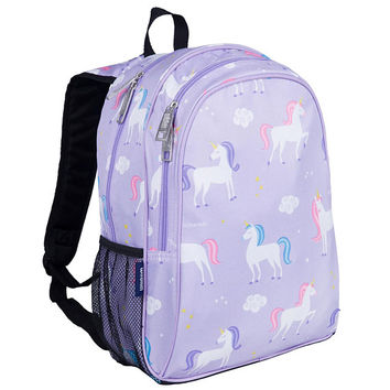 Monogram Backpack and Lunch Bag Set - Wildkin Unicorns | Personalized | Back to School | Elementary | Kindergarten | Unicorn Backpack