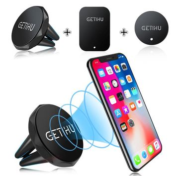 GETIHU Universal Car Holder 360 Degree Magnetic Air Vent Mount Smartphone Dock Mobile Phone Holder PC / Cell Phone Holder Stands