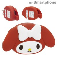 My Melody USB Charger Face Figure Red Sanrio Japan Exclusive