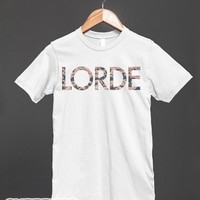 Floral Lorde Shirt-Unisex White T-Shirt