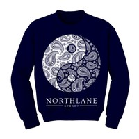 Yin Yang Heather Blue Crewneck : NRTH : MerchNOW - Your Favorite Band Merch, Music and More