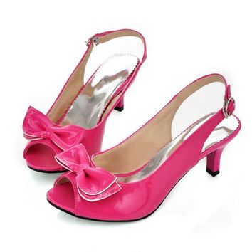 Women Sandals womens sexy peep toe low heel sandals bow slingbacks women summer sandal