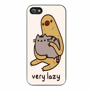 pusheen cat and sloth case for iphone 5 5s