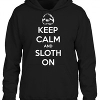 keep calm and sloth on 1 HOODIE
