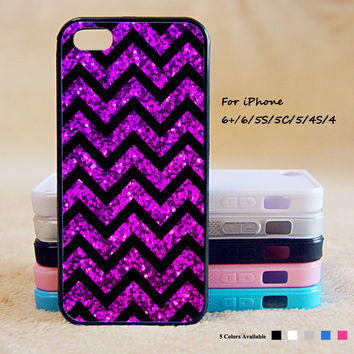 Purple Blur Sparkle Chevron Phone Case For iPhone 6 Plus For iPhone 6 For iPhone 5/5S For iPhone 4/4S For iPhone 5C iPhone X 8 8 Plus