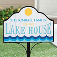 Personalized Lake House Magnetic Sign