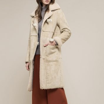 Moon River Shearling Long Coat