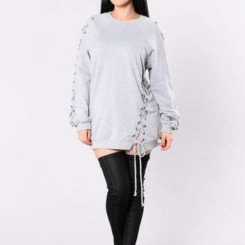 Kriss Kross Tunic - Grey