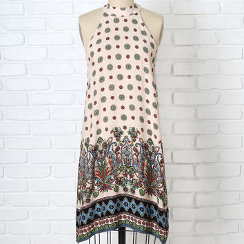Addy Printed Halter Dress-FINAL SALE