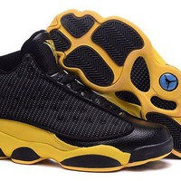 DCCKL8A Jacklish Cheap Air Jordans 13 Carmelo Anthony Golden Nuggets Pe Black Yellow