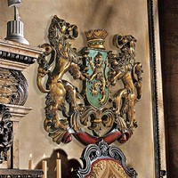 SheilaShrubs.com: Heraldic Royal Lions Coat of Arms Wall Sculpture EU1030 by Design Toscano: Wall Sculptures
