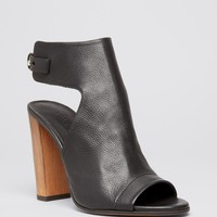 VinceOpen Toe Platform Booties - Addie High Heel
