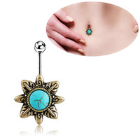 New Charming Dangle Crystal Navel Belly Ring Bling Barbell Button Ring Piercing Body Jewelry = 4661791556