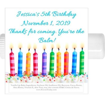 15 Happy Birthday Party Lip Balm Favors