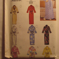 SALE Uncut Butterick Sewing Pattern, 3655! Extra Small/Sml/Medium/Women's/Misses/Collared Bath Robe/House Robe/Long Ankle Length Robes