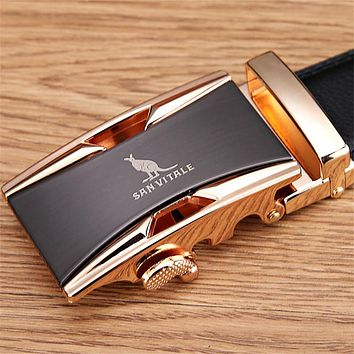 Men's Genuine Luxury Leather Belts with Micro Adjust Buckle