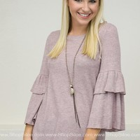 Double Tiered Belle Pink Top