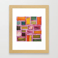 Abstract Painting Framed Art Print by mariameesterart