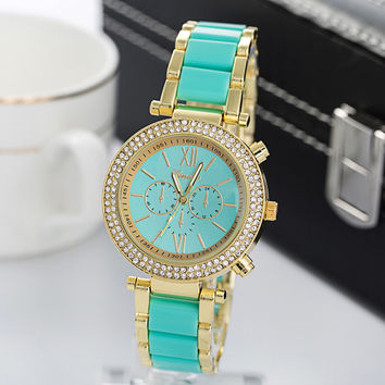 Women's Hot Sale Women Alloy Diamonds Fashion Watch = 4815477892
