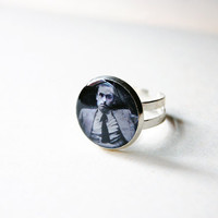 Ted Bundy -  Handmade Vintage Cameo Ring