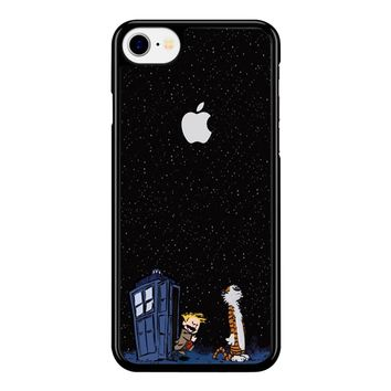 Calvin And Hobbes Apple Tardis iPhone 8 Case