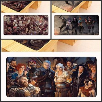 Yuzuoan  The Witcher 3 Ultimate Gaming Large Mousepad Natural Rubber Gamer Mouse Mat Pad Game Computer Desk Pad Mouse Play Mat