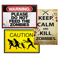 Zombie Posters - Zombie Warning Poster