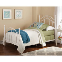 Walmart: Mainstays Twin Girls Metal Bed, White
