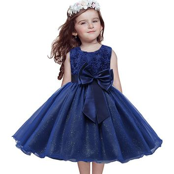 Summer Girl Dress Sleeveless Kids Dresses For Girls clothes Princes Party dress Children Clothing Wedding Ball Gown Costumes
